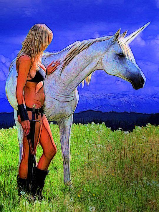 Encounter With A Unicorn - DunJon Fantasy Art