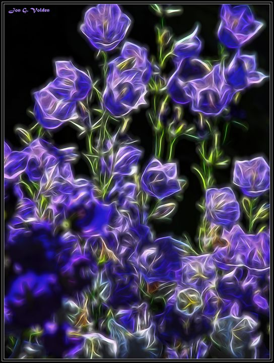 Purple Flowers - DunJon Fantasy Art