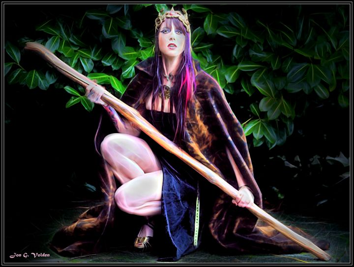 Sorceress With Staff Dunjon Fantasy Art Paintings
