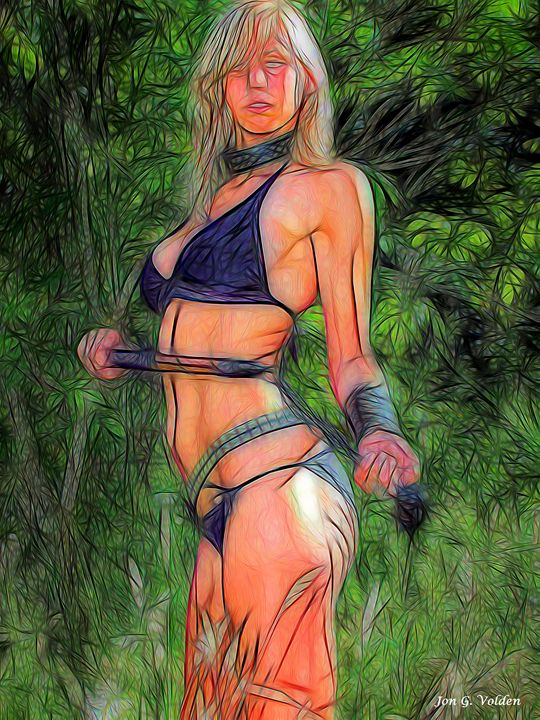 Impression Of An Amazon - DunJon Fantasy Art