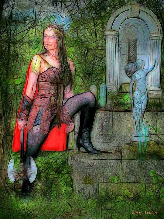 Impression Of A Warrior Princess - DunJon Fantasy Art