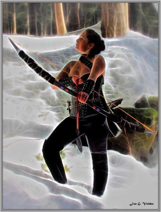 Winter Hunteress - DunJon Fantasy Art
