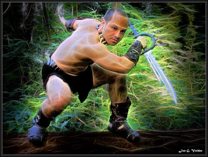 Stalking Barbarian - DunJon Fantasy Art