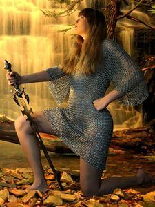 Paladin Waterfall - DunJon Fantasy Art