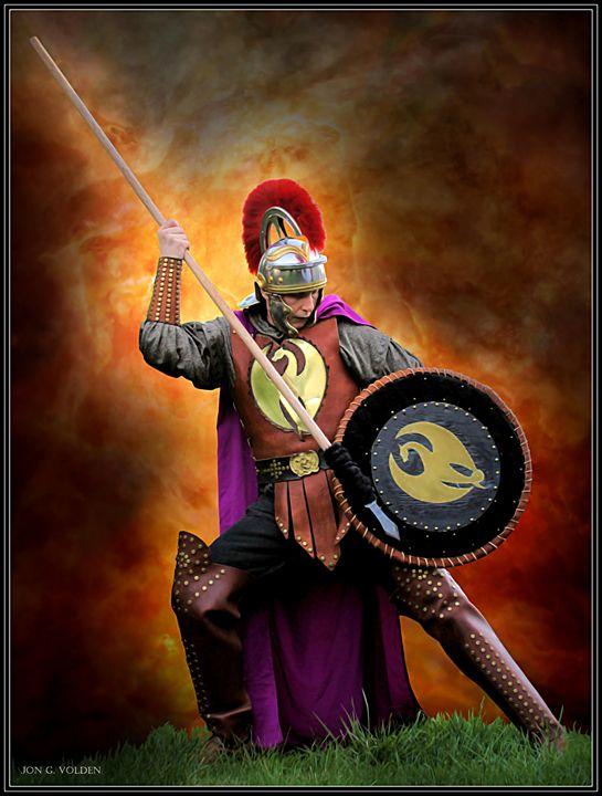 The Spear Man - DunJon Fantasy Art