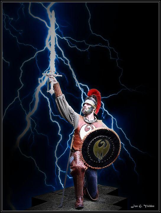 Sword Of Lightning - DunJon Fantasy Art