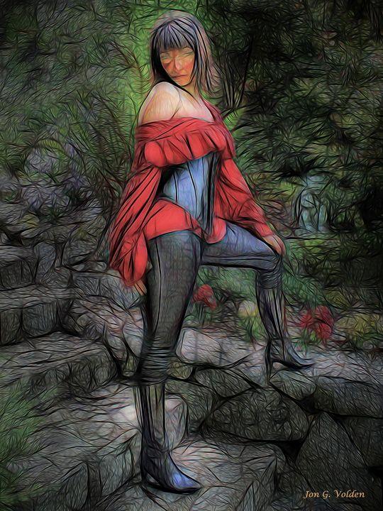 Impression of a Swashbuckler - DunJon Fantasy Art