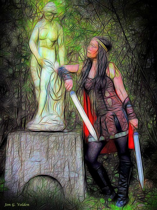 Impression Of Warrior Princess - DunJon Fantasy Art