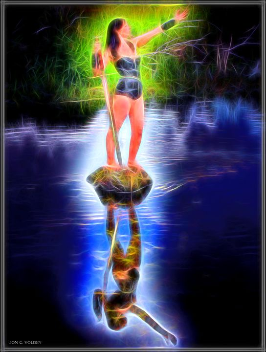 Reflections of the Lady Of The Lake - DunJon Fantasy Art