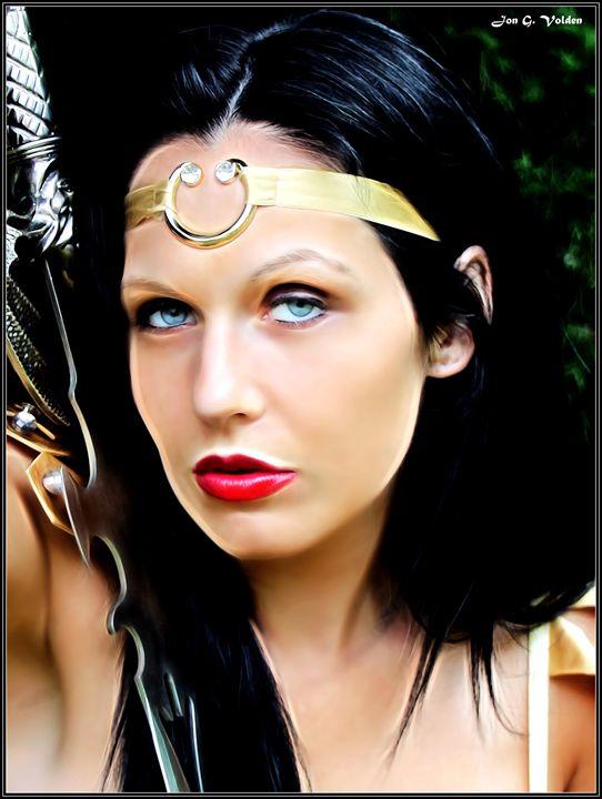 Portrait Of A Warrior Princess - DunJon Fantasy Art