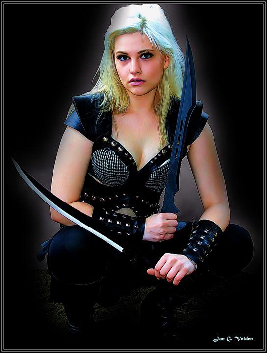 Crouching Warrior - DunJon Fantasy Art