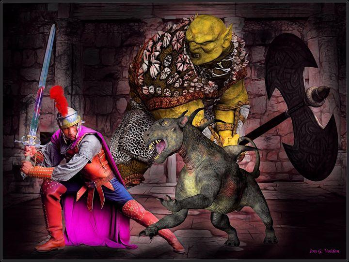 A Dark Battle - DunJon Fantasy Art