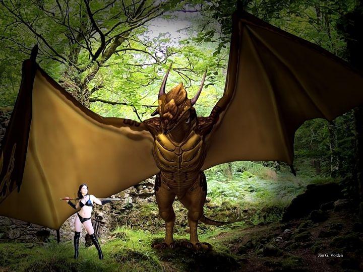 Dragon Encounter - DunJon Fantasy Art