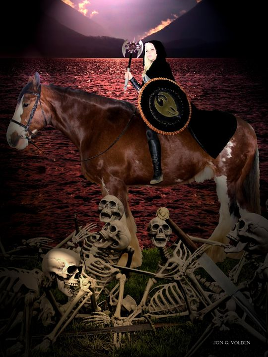 Lady Death Dealer - DunJon Fantasy Art