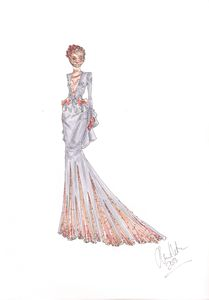 Evening Gown Fashion Illustration