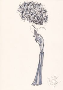 Fashion Illustration Blue Willow