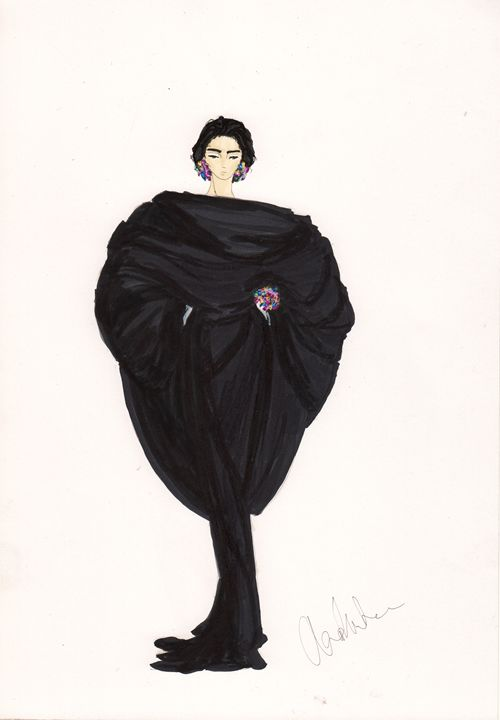 Venetian Black - Alex Newton Fashion Art