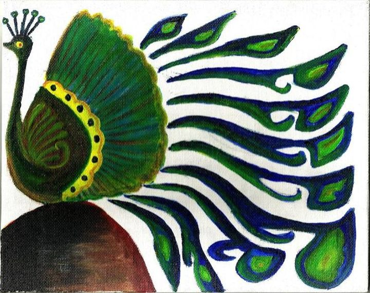 Dancing Peacock - Color Splash