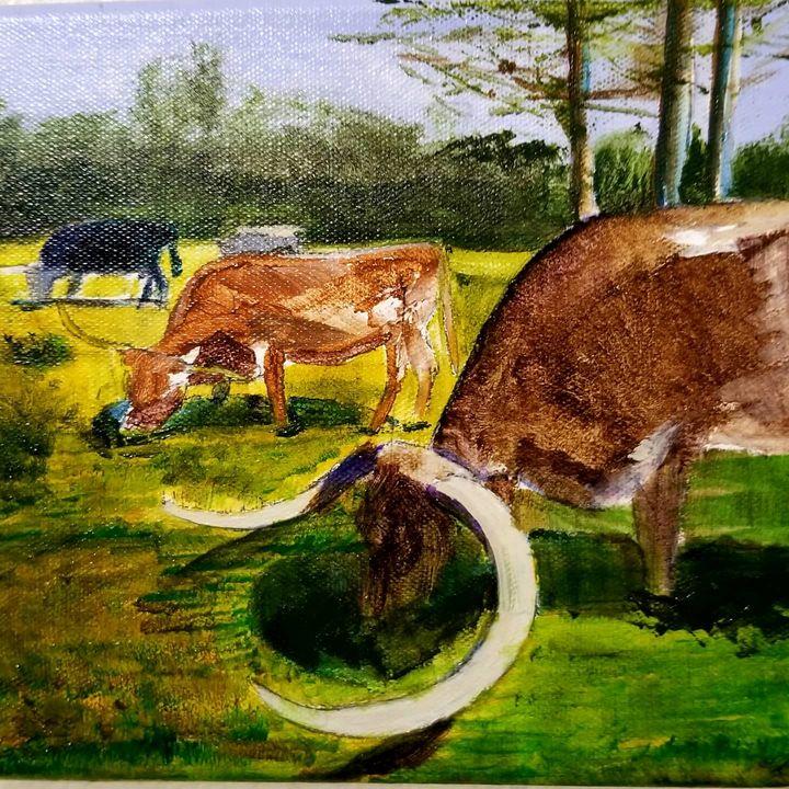 Neighboring Longhorns - KSLindley