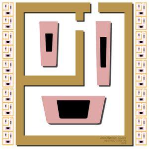 Face In Elegant Maze - S