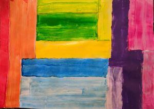 geometric color bands
