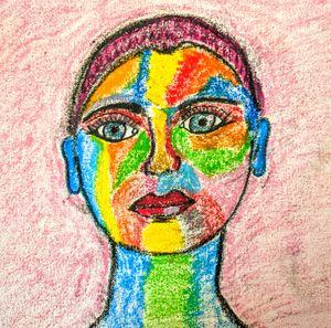Rainbow Portrait. - Naomi Hills