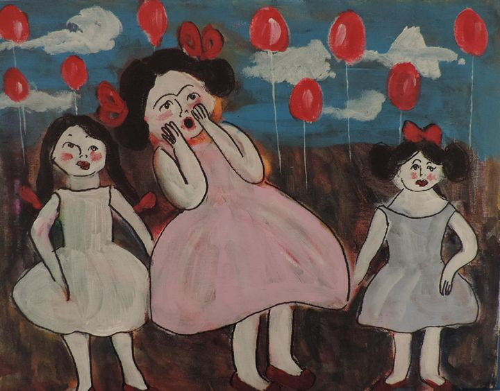 red balloons - nancy lois denommee
