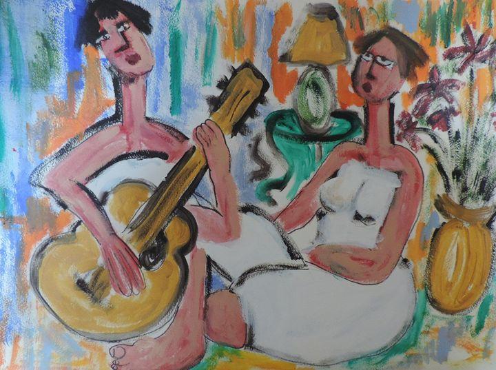 girlfriends with guitar - nancy lois denommee