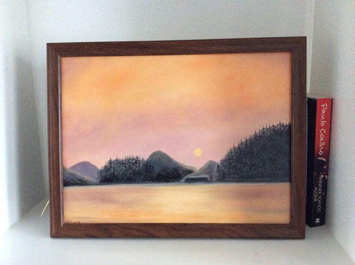 Dusk by the lake - Jayne Roggeband oil paintings