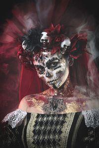 Santa Muerte Face Art