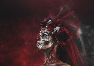 Young girl Santa Muerte