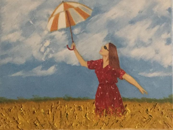 Woman with umbrella (2017) - Nataliia's Art Gallery