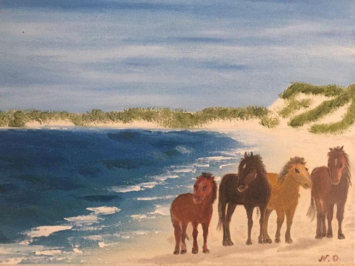 The horses (2017) - Nataliia's Art Gallery