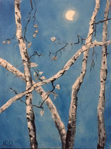trees under the moon (2019)