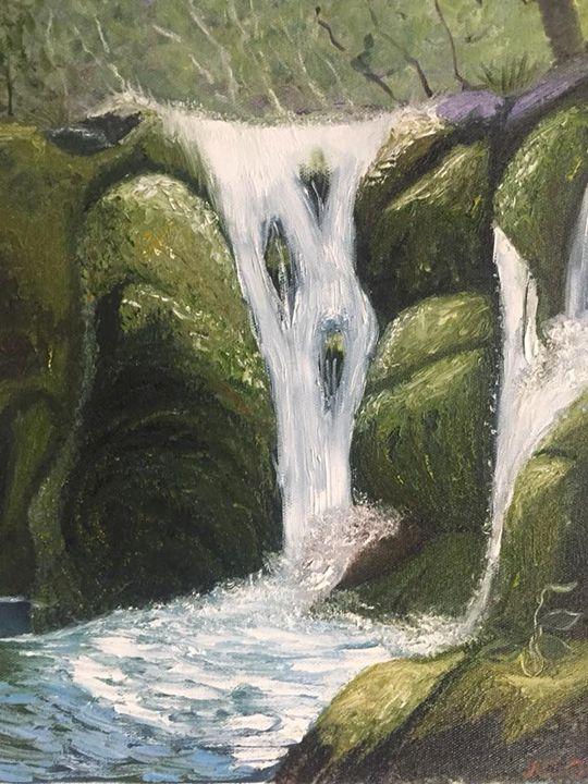 The Waterfall (2017) - Nataliia's Art Gallery