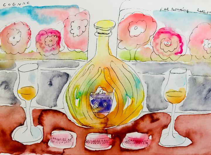 Cognac, macarons and flowers - Romaine Romine