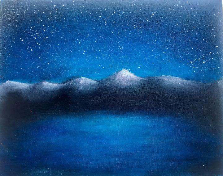 Blue mountain scene - Ashley Aesthetics