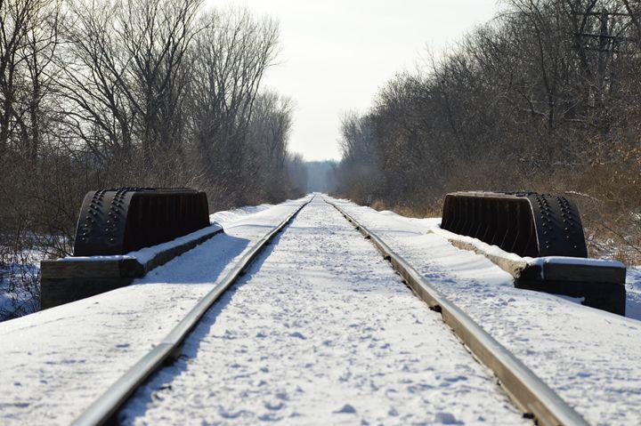 Snowy Railroad - Art by Indigo