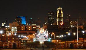 Downtown Des Moines - Art by Indigo