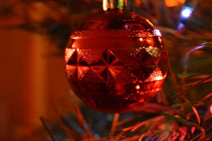 Red Christmas Ornament - Art by Indigo