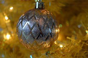 Silver Christmas Ornament - Art by Indigo