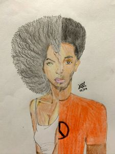 BLM color pencil drawing