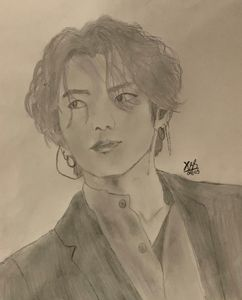 Pencil Art of Jeon Jungkook of BTS