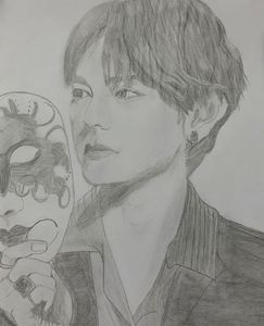 Pencil art of Kim Taehyung of BTS