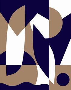 Geometric three tone abstract