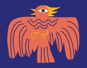 Ancient phoenix symbol