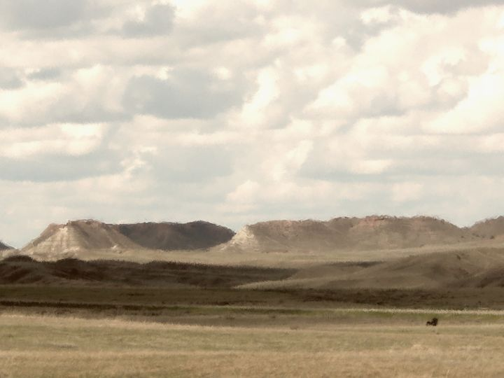 Montana Prairie and Badlands - Double Moon Art