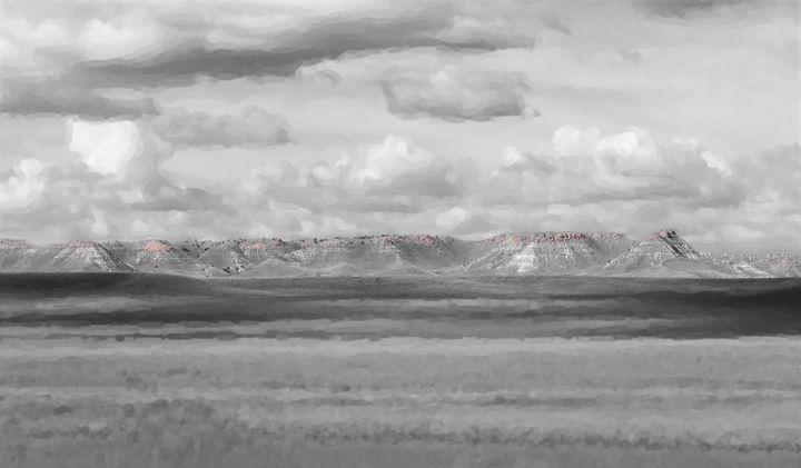 Charcoal Hills Badlands - Double Moon Art