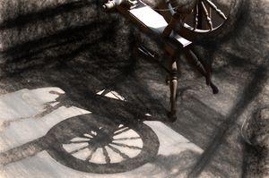 Spinning Wheel In September Light - Double Moon Art