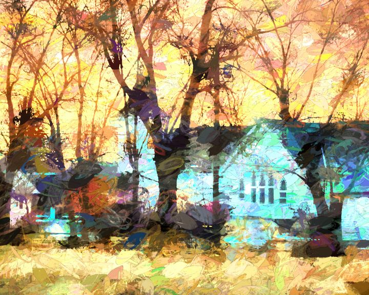 Presbyterian Church Sunrise - Double Moon Art